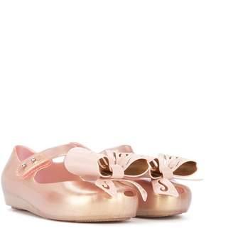 Mini Melissa bow detail ballerinas