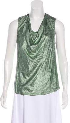 Jean Paul Gaultier Metallic Silk-Blend Blouse