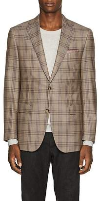 Pal Zileri MEN'S CHECKED WOOL TWO-BUTTON SPORTCOAT
