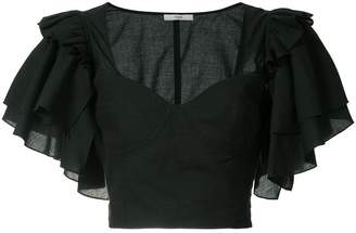 Tome frill sleeve top