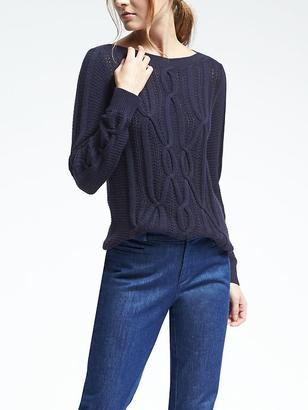 Engineered Cable Boatneck Pullover $98 thestylecure.com