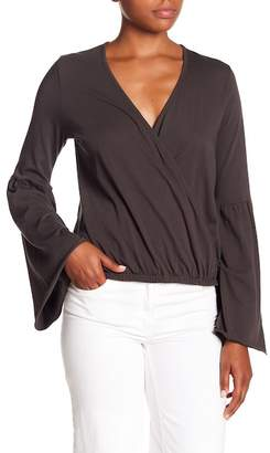 Chaser Surplice Bell Sleeve Top