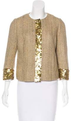 Rebecca Minkoff Paillette-Embellished Silk Jacket