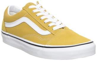 813674adcaba Vans Old Skool Trainers Yolk Yellow True White