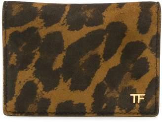 Tom Ford leopard print cardholder