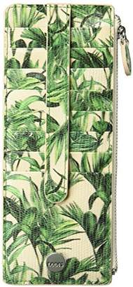 Lodis Palm Credit Card Case with Zipper Pocket
