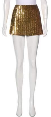 Marc Jacobs Sequined Mini Skirt Gold Sequined Mini Skirt