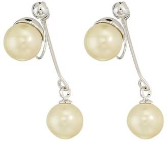 Vince Camuto Pearl Front/Back Clip Earrings Earring