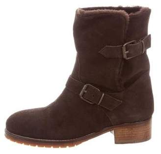 Chuckies New York Shearling-Lined Moto Ankle Boots