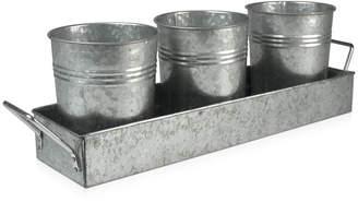 Artland Masonware Galvanized Metal 4-Piece Picnic Caddy Set