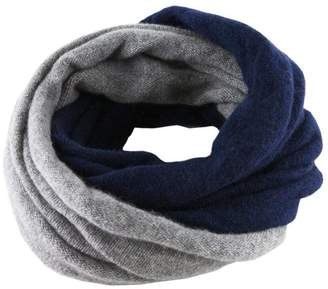 Black Navy and Warm Grey Cashmere Snood