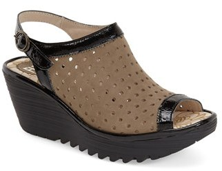 Women's Fly London 'Yile' Perforated Slingback Wedge $189.95 thestylecure.com