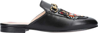 Gucci Princetown cat leather slippers