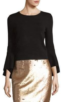 Eliza J Keyhole Bell-Sleeve Blouse