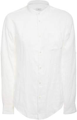 Onia Eddy Solid Mandarin Linen Shirt