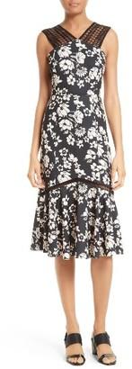 Women's Tracy Reese Mixed Media Midi Dress $348 thestylecure.com