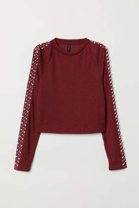 H&M Rib-knit Sweater - Red