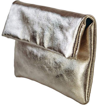 Brix And Bailey Metallic Leather Fold Over Clutch