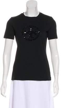Tory Burch Embellished Logo T-Shirt