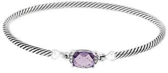 David Yurman 925 Sterling Silver Amethyst Diamond Bracelet