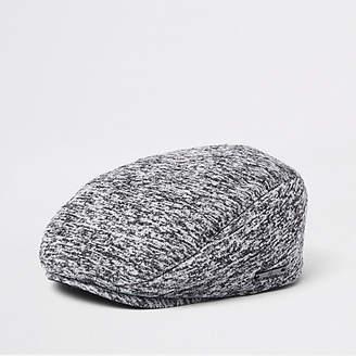 River Island Mini boys Grey jersey flat peak cap