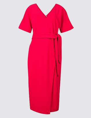 Marks and Spencer Tie Waist Kimono Wrap Dress