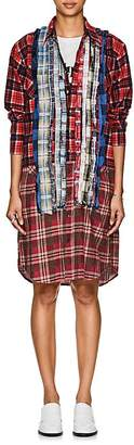 Needles Women's Plaid Cotton Flannel Shirtdress