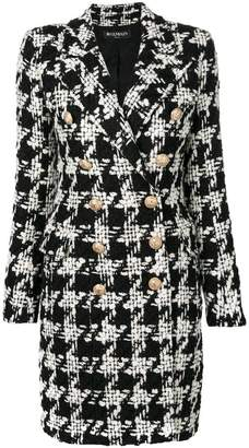 ... Balmain houndstooth tweed coat