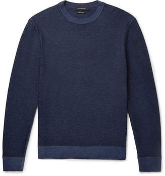 Ermenegildo Zegna Melange Cashmere Sweater - Navy