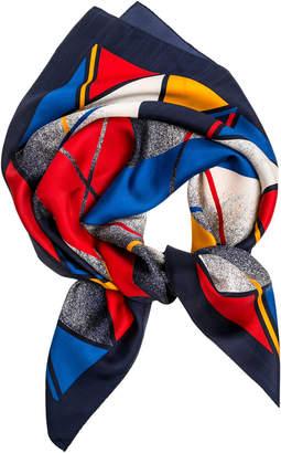 Lilli Jahilo Mixed-Print Silk Scarf