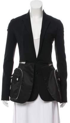 Givenchy Convertible Peak-Lapel Blazer