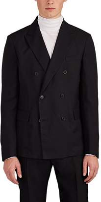Valentino MEN'S BASKET-WEAVE SILK DOUBLE-BREASTED SPORTCOAT