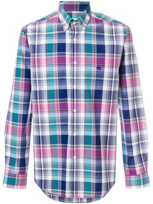 Etro long sleeve check shirt