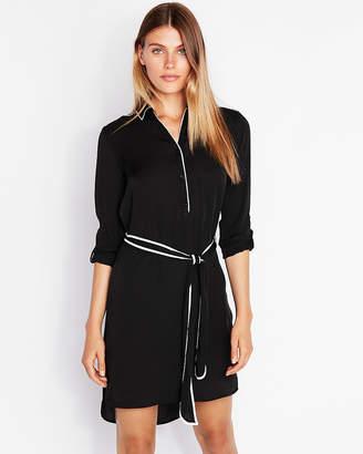 Express Long Sleeve Midi Shirt Dress