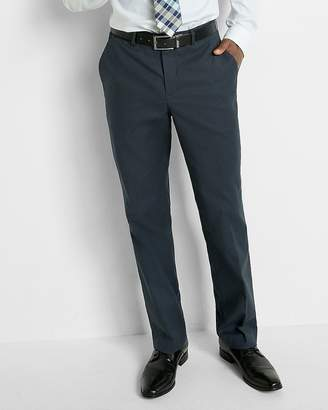 Express Relaxed Stretch Cotton Oxford Dress Pant