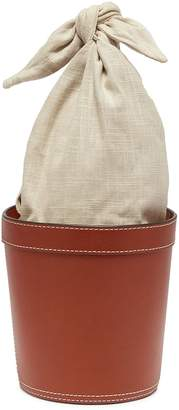 STAUD 'Britt' knotted linen handle leather bucket bag