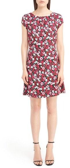 Saint LaurentWomen's Saint Laurent Anemone Print Sheath Dress