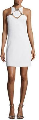 Thierry Mugler Sleeveless Geometric-Cutout Sheath Dress, White $1,850 thestylecure.com