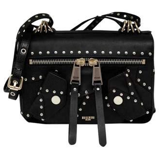 a28f2e5eea Moschino Biker Black Leather Handbag