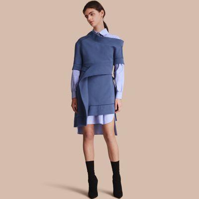 Burberry Burberry One-shoulder Sweatshirt Dress