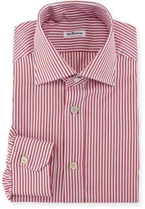 Kiton Striped Dress Shirt, Pink