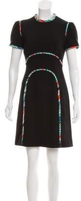 Mary Katrantzou Short Sleeve Knee-Length Dress