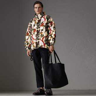 Burberry Graffiti Archive Scarf Print Down-filled Puffer Jacket