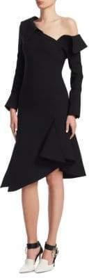 Monse Off-Shoulder Ruffled Midi Dress