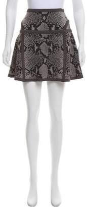 Diane von Furstenberg Snakeskin Printed Skirt