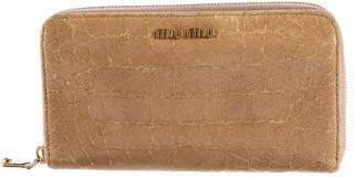 Miu MiuMiu Miu Embossed Patent Leather Wallet