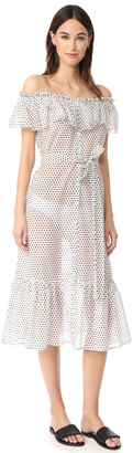 Lisa Marie Fernandez Mira Button Down Sheer Dress $795 thestylecure.com
