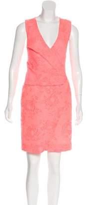 J. Mendel Brocade Crisscross Dress Neon Brocade Crisscross Dress