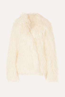 Paco Rabanne Faux Shearling Jacket - Ivory