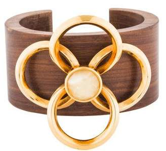 Chloé Wood & Resin Flower Cuff